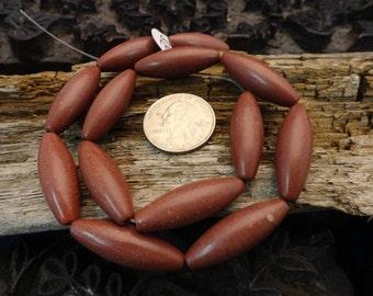 Exclusive Minnesota Pipestone 10mmx30mm Beads (Catlinite)