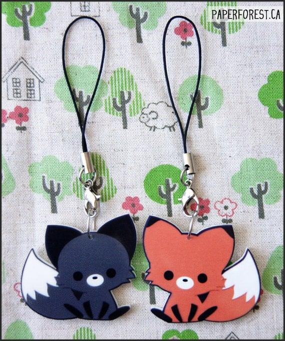 Acrylic Fox Charm (Orange) - Last One