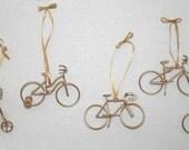 Bicycle Christmas Ornaments, Set of Six