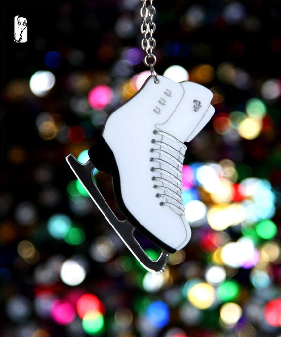 Ice Skate Necklace - Dancing on Ice - Skating - Sugar Jones UK
