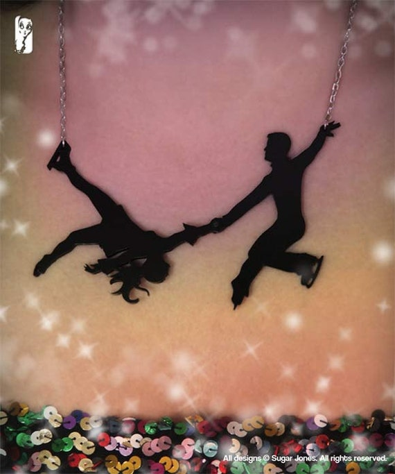Ice Skating Necklace - Figure Skating - Dancing on Ice - Sugar Jones UK