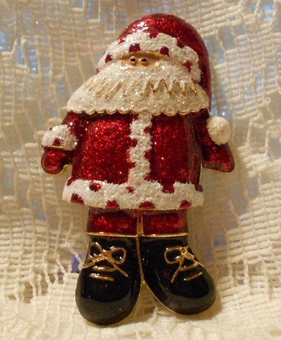 Vintage santa claus brooch pin by danecraft