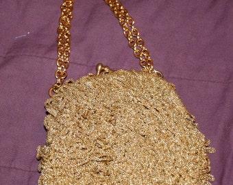 Gold Crochet Purse Italy for Walborgs