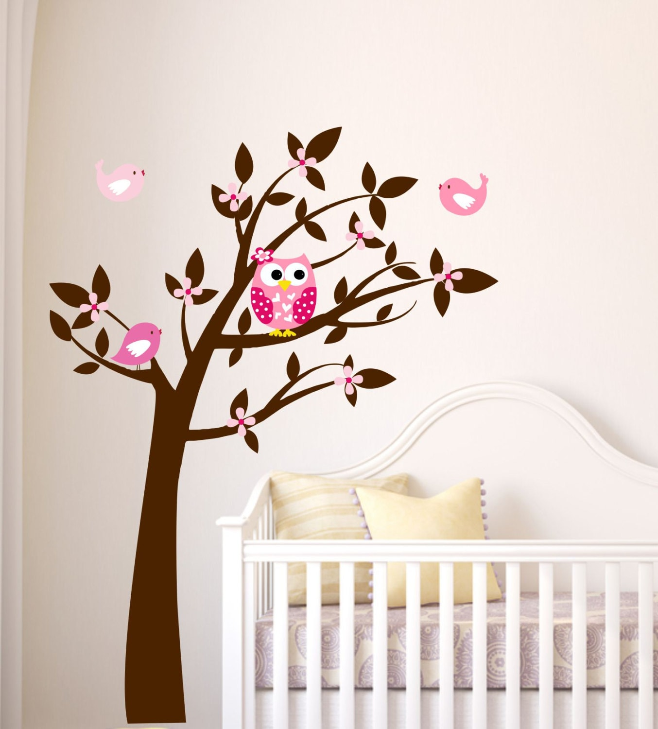 Owl Tree Wall Decal Tree Vinyl Decal Tree Owl And