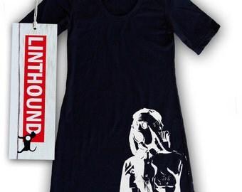 Gas Mask Soldier Navy T-Shirt Dress