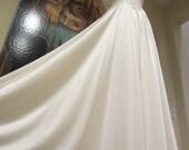 OLGA SET Vintage Lingerie Peignoir & Body Silk Nightgown Ivory