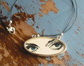 Shes Got Bette Davis Eyes -- eye drawing necklace