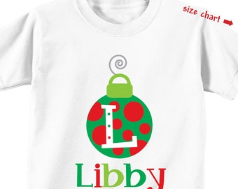 Christmas Ornament Shirt or Onesie - Personalized Christmas Shirt