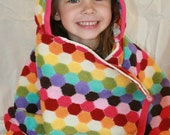 Honeycomb Rainbow Hooded Towel