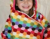 Honeycomb Rainbow Hooded Towel