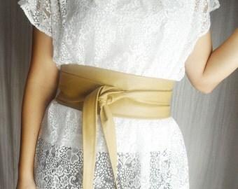 Obi belt vegan leather, beige obi belt, wide wrap waist belt, ecru sash belt, faux leather belt