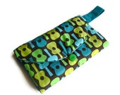 """Changing Pad, Diaper Clutch guitar baby boy travel music designer gift """"Jimmy""""  MADE TO ORDER"""
