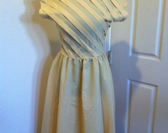 PRICE REDUCED Vintage COCO of California Yellow Dress