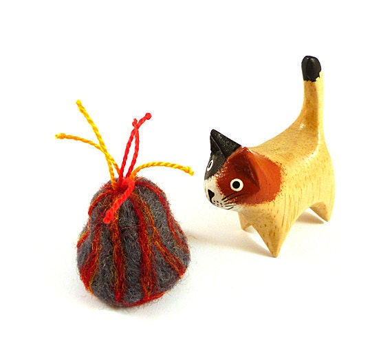 Erupting Volcano Catnip Cat Toy - Needle Felted Wool
