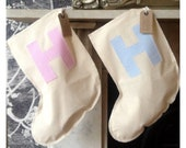 Baby's First Christmas Stocking Personalised and Upcycled.