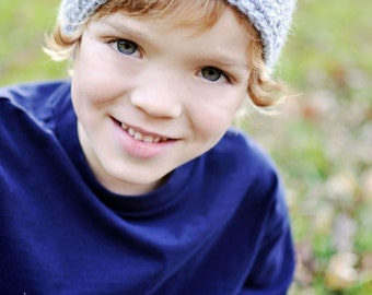 Pop A Color Beanie-Adult size Ready to Ship, vertical stripe, blue hat, blue stripe, beanie, accessory for boys, mens hat, fall accessory
