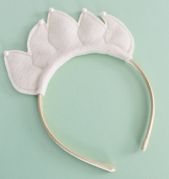 READY TO SHIP: Princess Petal Headband - Ivory - Costume Accessory - Fits toddler to adult