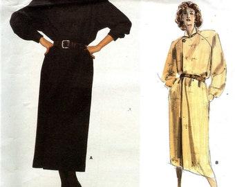 Vogue 1643 Dress Coatdress raglan sleeves loose unstructured style Size 12 Vogue American Designer Ralph Lauren UNCUT sewing pattern