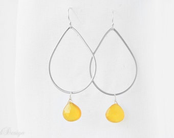 Lemon Drop Hoop Earrings