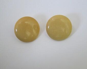 Vintage Round Back Post Earrings