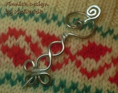Adorable CELTIC ART Brooch, Hair Pin or Shawl Pin For Scarf made with Aluminum Wire - Very Light to Wear - A beautiful CHRISTMAS Gift