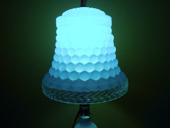 Bubble Glass Lamp Shade Blue Frosted Glass Bell Shade