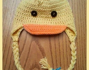 Spring Time Duckling Crochet Hat SALE