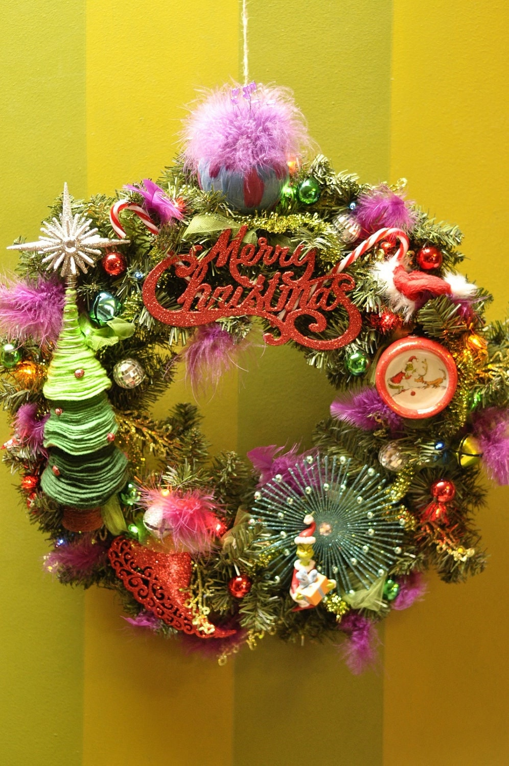 Grinch Christmas Wreath How The Grinch Stole Christmas