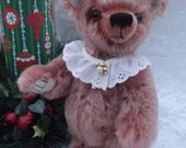 Matilda - dusty rose mohair bear