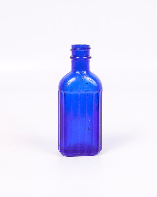 Vintage Cobalt Blue Glass Medicine Bottle Mckesson Iodine