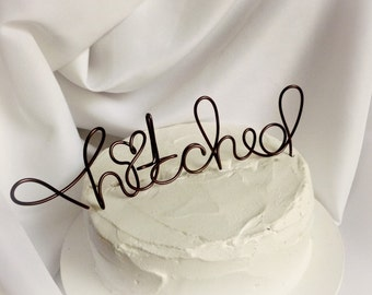 Rustic Hitched Wedding Cake Topper, Decor, Fun Decorations