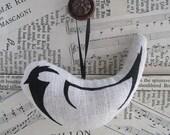 Printed Hanging Bird Decoration - Coal Tit