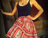 Poppy Flower Skirt