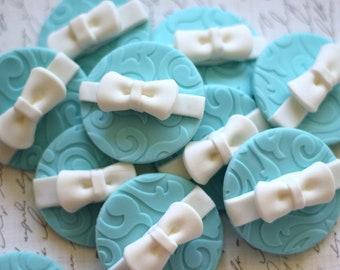Bow gift fondant Toppers - wedding topper - wedding fondant - wedding cake