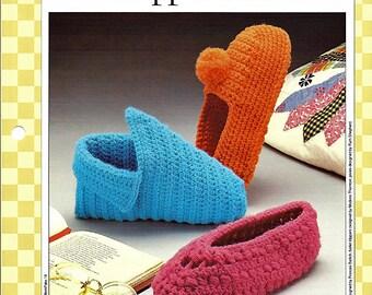 Slipper Chic  Crochet  Pattern 85140-I