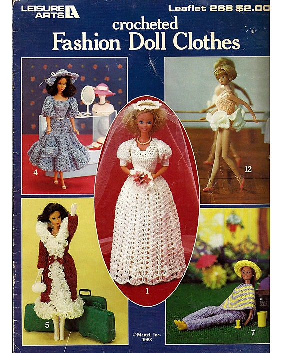 Vintage Crocheted Fashion Doll Clothes Fits Barbie Leisure