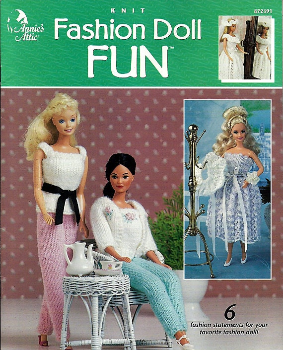 Fashion Doll Fun Knit Doll Clothes Pattern by ...