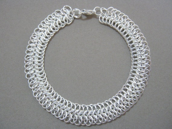 Silver Strand Chainmaille Bracelet