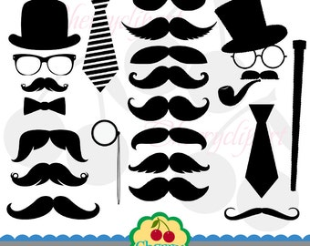 Clip Art Moustache Clip Art mustache clip art etsy party digital clipart set personal and commercial use paper craftscard makingscrapbookingweb design