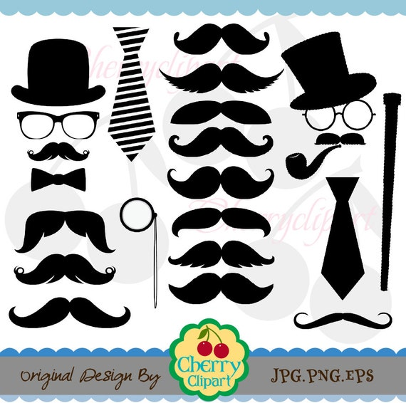 Printable Mustache Clipart