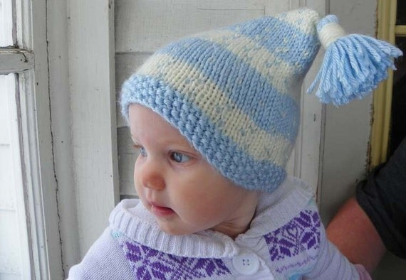 baby boy winter hat Snowflake baby hat baby Hats Bonnets 6 months to 12 months knitted baby blue winter hat baby boy baby girl
