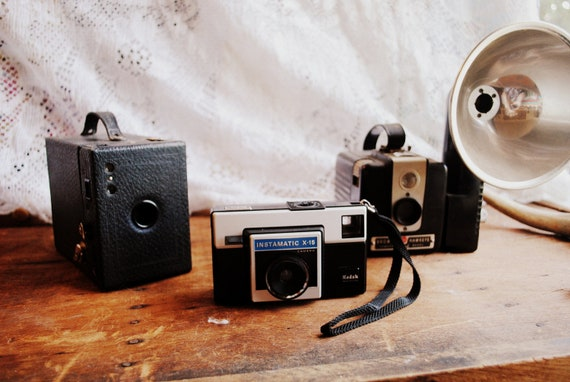 SALE Instant Vintage Camera Collection