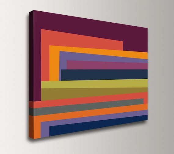 Line Drawing Wall Art : Colorful wall art line gallery wrap canvas print