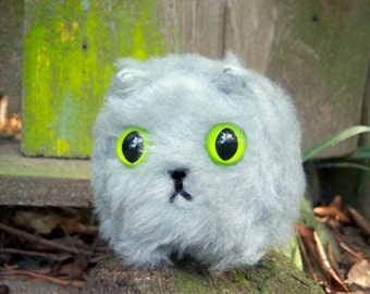 Gigi the Gray Kitty: Cute, Stuffed Miniature Box Kitty, Unique Baby