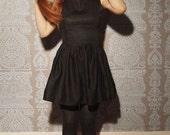Little Black Dress In Organic Cotton - Custom Made 50s Style LBD