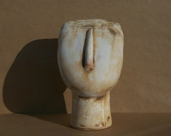 Marked DOWN was 45 - Cycladic Statuette - Ceramic Replica of the head of an originaly marble female figurine - Ancient Greek Copy