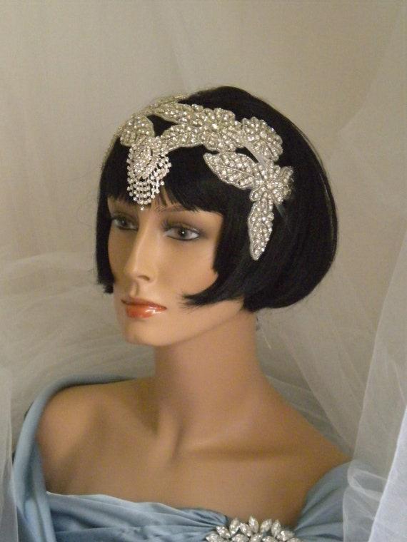 1920s headpiece flapper headband vintage edwardian