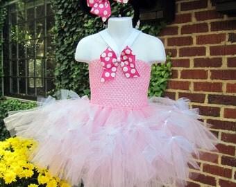 Minnie Mouse Tutu dress sizes 6m -9m. 9-12m, 12-18m, 2t, 3t, 4t, 5t