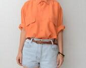 Vintage orange silk shirt