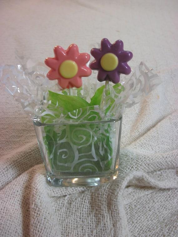 12 Flower chocolate pops